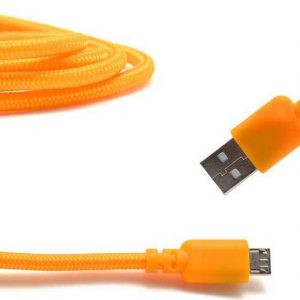 Data Cord Cable Ancus USB to Micro USB with Enhanced Plug-inn Orange