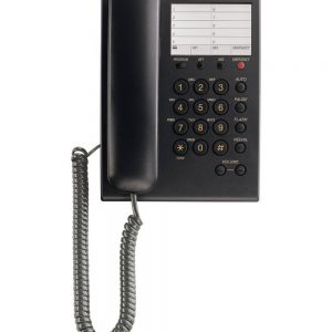 Hotel-Τype Telephone Device Panasonic KX-TS550GRB Black with Emergency Button