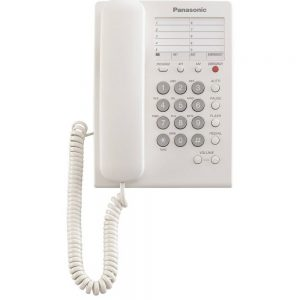 Hotel-Τype Telephone Device Panasonic KX-TS550GRB White with Emergency Button