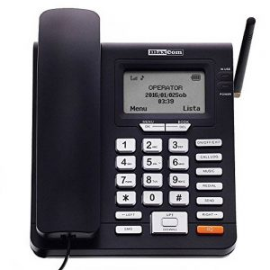 GSM Desktop Phone Maxcom Comfort MM28D Black with Mobile Phone Use and FM Radio