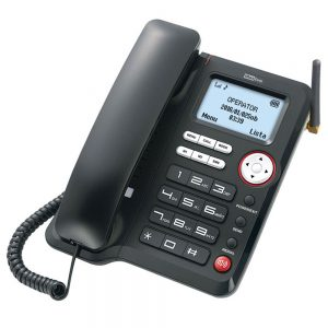 3G Desktop Phone Maxcom Comfort MM29D Black with Mobile Phone Use