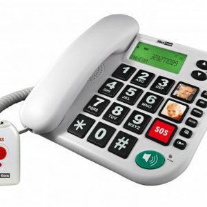 Telephone Maxcom KXT481 SOS White with Lcd