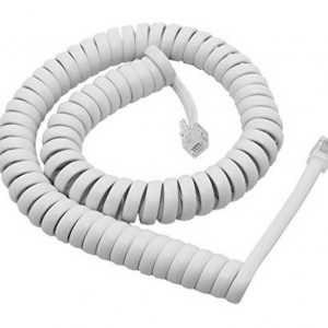 Telephone Cable White 3m Bulk