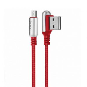 Data Cable Hoco U17 Capsule USB to Micro-USB Fast Charging 2.4A Red 1.2m