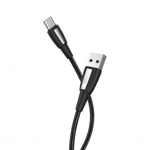 Data Cord Cable Hoco X39 Titan USB to Type-C Fast Charging 3.0A Black 1m