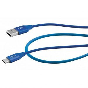 Data Cable Maxcom USB to USB-C 2.4A Fast Charge Blue 1m