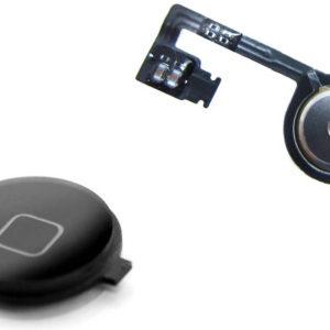 Set Home Button Apple iPhone 4S Black Original