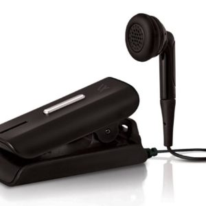 Bluetooth hands free Vieox Venturer V300 with Flat Cable and Buzzer. Multi Pairing Black