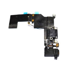 Plugin Connector Apple iPhone 5S with Microphone and Jack Connector Black OEM Type A