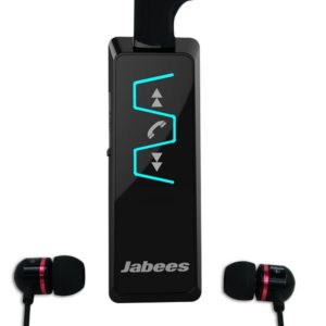 Bluetooth Hands Free Jabees IS901 Music Stereo Headset 5-in1 with Detachable Earpieces 3.5mm Multi Pairing Black