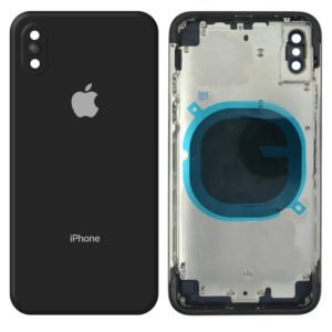 Battery Cover for Apple iPhone X Black with Camera Lens