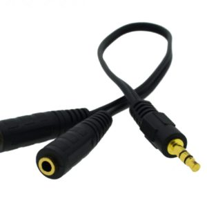 Adaptor Audio Cable Ancus HiConnect 3.5 mm Male to 2 Female 3.5 mm 30cm Black
