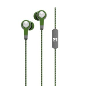 Hands Free Body Glove Blast Earphones Stereo 3.5mm Green with Micrphone and Cord Cable