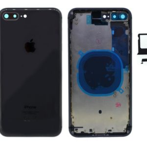 Battery Cover with Frame for Apple iPhone 8 Plus Black with Accessories OEM Type A