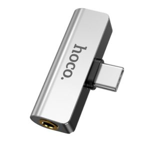 Adaptor Hoco LS26 2-in-1 Type-C to Type-C and 3.5mm 1.5A Silver