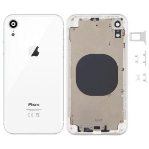 Battery Cover for Apple iPhone XR White with Camera Lens