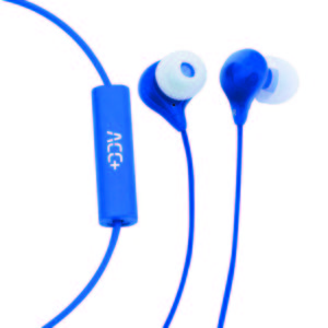 Hands Free Maxcom Soul Stereo Earphones 3.5mm Blue with Micrphone and Answer/Mute Button