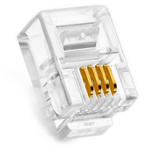 Ethernet Plug Jasper RJ11 6p4c 100 Pieces