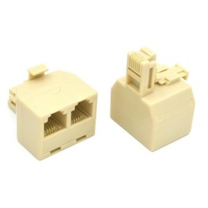 Telephone Socket Splitter RJ11 Jasper Male to 2x Female