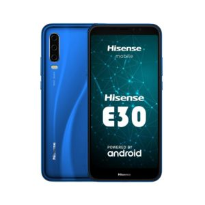 "Hisense Infinity E30 4G LTE (Dual SIM) 6"" HD+ Octa-Core 2Ghz 2GB/32GB Blue 2 Front Cameras  and 3  Rear Includes a Free Gift of Case"