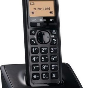 Refurbished (Exhibition) Dect/Gap Panasonic KX-TG2711 Black with Speakerphone and Eco Function
