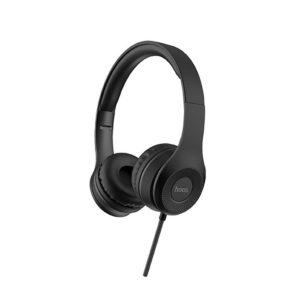 Headphone Stereo Hoco W21 Graceful Charm 3.5mm with Microphone Black