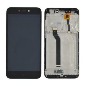 LCD & Digitizer Xiaomi Redmi 5A with Frame Black (Dimension:137mm) Type A