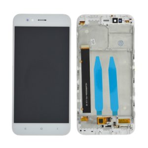 LCD & Digitizer Xiaomi Mi A1 with Frame White (Dimension:152mm) OEM