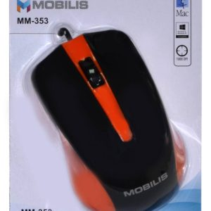 Wired Mouse Mobilis MM-353 with 3 Buttons and 800 DPI Orange