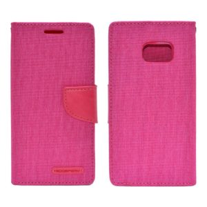 Book Case Goospery Canvas Diary for Samsung SM-G930F Galaxy S7 Pink by Mercury