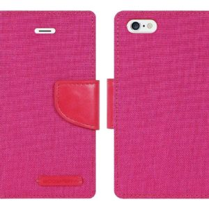 Book Case Goospery Canvas Diary for Apple iPhone 7 / 8 / SE (2020) Pink by Mercury