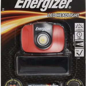 Energizer LED Headlight LED 55 Lumens with Batteries 3 x AAA Red