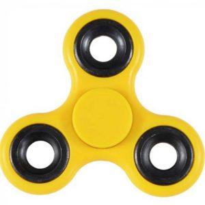 Fidget Spinner ABS Plastic 3 Leaves Yellow 2.5 min