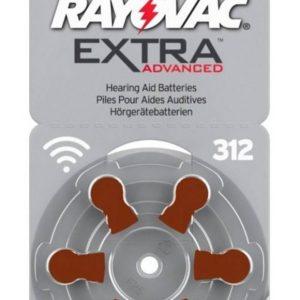 Hearing Aid Batteries Rayovac 312 Extra Advanced 1.45V Pcs. 6
