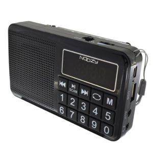 Portable FM Radio Noozy S24 3W Black with USB Port