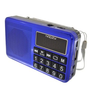 Portable FM Radio Noozy S24 3W Blue with USB Port
