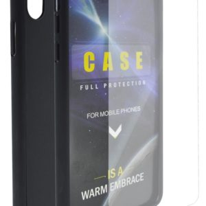360 Protect Case Ancus for Apple iPhone XS Max Black with Tempered Glass 0.20mm
