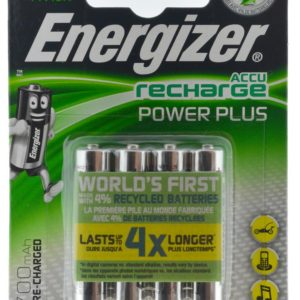 Rechargeable Battery Energizer ACCU Recharge Power Plus 700 mAh size AAA 1.2V Pcs 4