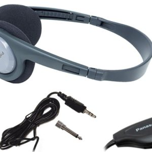 Stereo Headphone Panasonic RP-HT090 3.5mm Suitable for Television With Cable Length 5m Grey