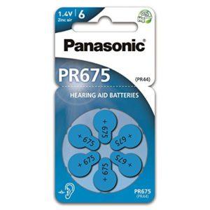 Hearing Aid Batteries Panasonic PR675 1.4V Τεμ. 6