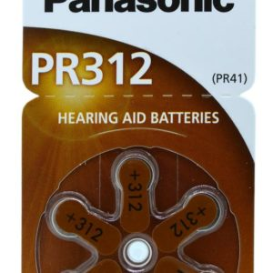 Hearing Aid Batteries Panasonic PR312 1.4V Τεμ. 6