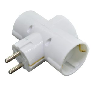 Power Adaptor Socket GAC0103 with 3 Schuko White