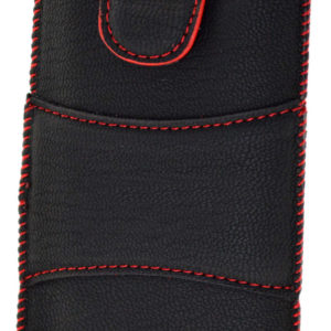 Case Velcro for FlameFox Care1/ Maxcom MM715BB Black with Red Sticking
