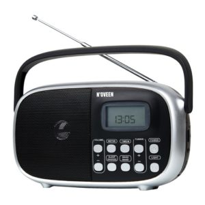 Portable FM Radio N'oveen PR780 5W Black with Digital Tuner and Mains / Battery Supply