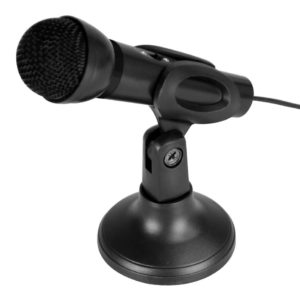 Computer Microphone Media-Tech MT393 Black with ON/OFF button and removable Desk Stand