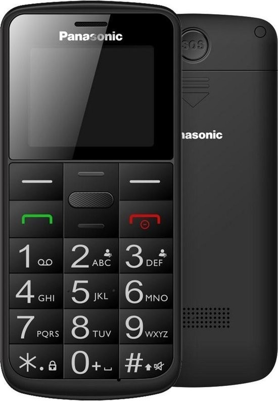 "Panasonic KX-TU110EXB (Dual SIM) Black 1.77"" with SOS button"