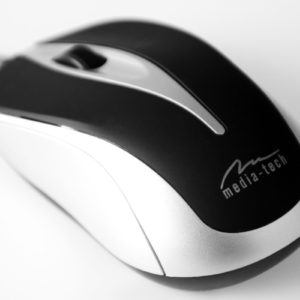 Wired Mouse Media-Tech MT1091S 800cpi with 3 Button with Scrolling Wheel Black-Silver