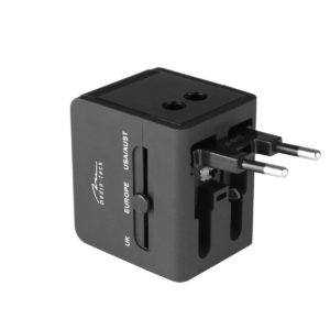 World Adapter and Charger Media-Tech MT6208 with 3 Plugs (EU