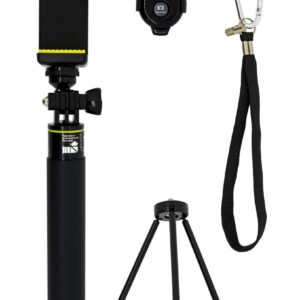 Selfie Stick Monopod Bluetooth LDX-611 for Cameras and Mobile Phones Extendible Black Length: 18cm-85cm