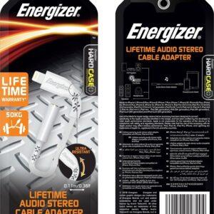 Energizer Lightning Audio Adapter White